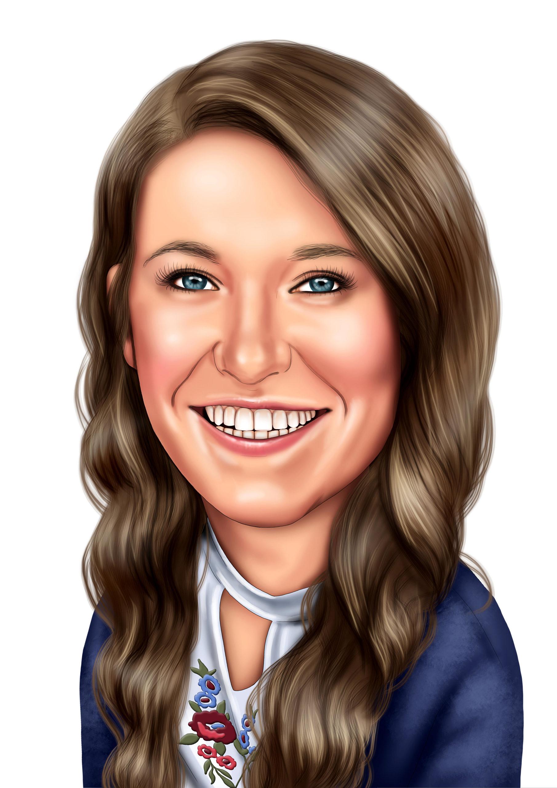 Sarah J Caricature